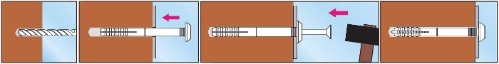 Дюбель-гвоздь SM инструкция по монтажу