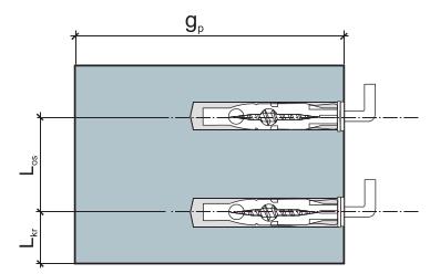 Дюбель универсальный с прямым крюком параметры монтажа рис 1