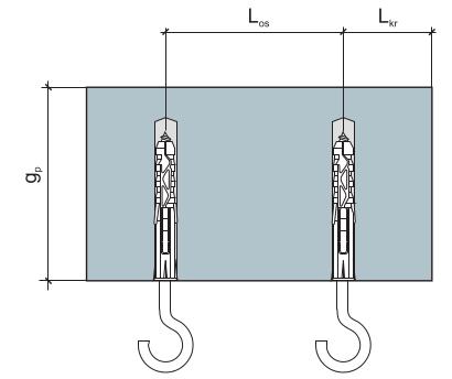 Дюбель-крюк параметры монтажа рис 1