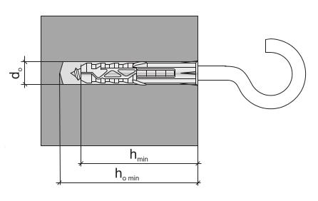 Дюбель-крюк параметры монтажа рис 2