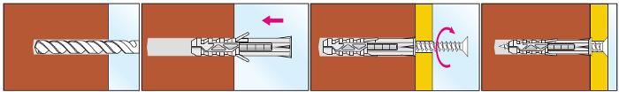 Дюбель с шурупом инструкция по монтажу