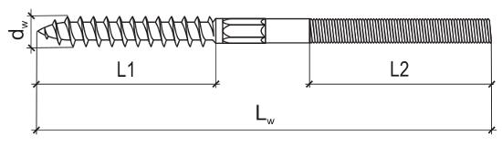 Шпилька-шуруп схема