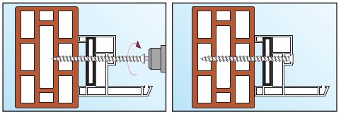 Шуруп по бетону способ монтажа в пустотелый материал