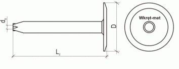 схема фасадного дюбеля