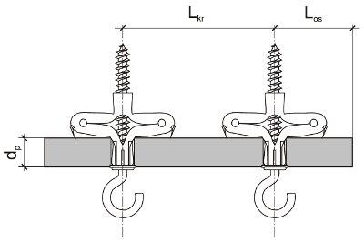 схема дюбеля